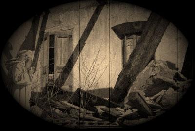 Restes imaginàries del vell calefactori, que un estiu de 1773 una tempesta va destruí