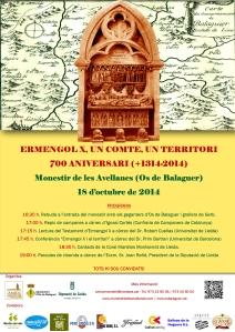 """Cartell """"700 anys Ermengol X, comte d'Urgell"""""""
